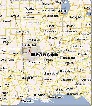 Branson Missouri The Most Comprehensive Branson MO Site On The Web - Map of missouri showing branson